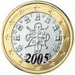 Portugal 1 euro 2005