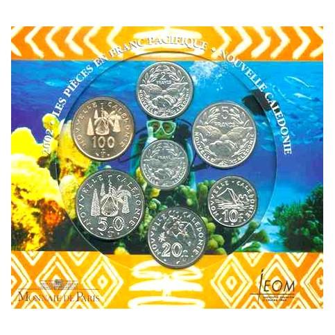 Nouvelle Calédonie 2002 - Coffret BU en francs