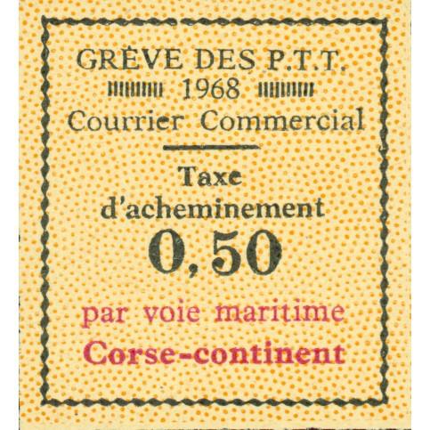 Timbre grève Corse  1968