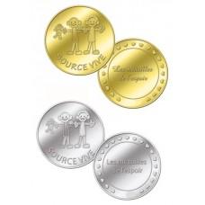 Médaille associative Source Vive - couleur Or ou Argent