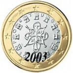 Portugal 1 euro 2003