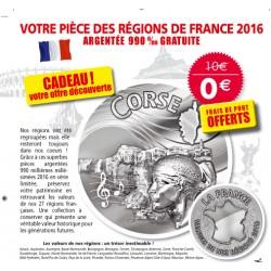 Votre pièce des régions de France offerte