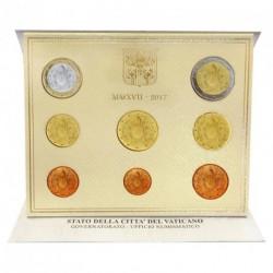 Vatican 2017 - Coffret euro BU Armoiries du Pape FRANCOIS