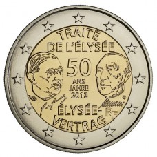 FRANCE 2013 - 2 EURO COMMEMORATIVE TRAITE DE L ELYSEE