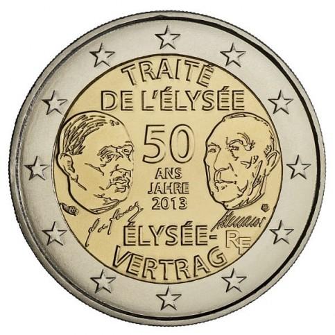 FRANCE 2013 - 2 EURO COMMEMORATIVE TRAITE DE L ELYSEE