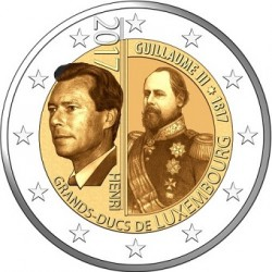 Luxembourg 2017 - 2 euro commémorative Guillaume III
