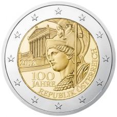 Autriche 2018 - 2 euro commémorative 100 ans république