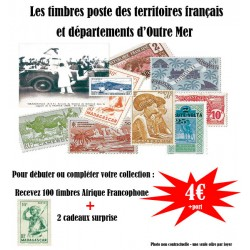 100 timbres Afrique Francophone
