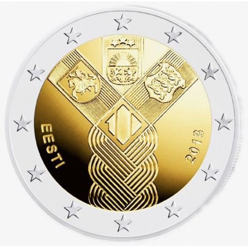 Estonie 2018 - 2 euro commémorative Etats Baltes
