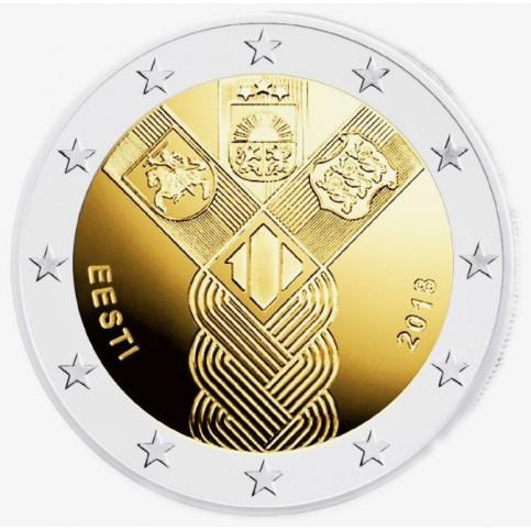 Estonie 2018 - 2 euro commémorative Etats Baltes