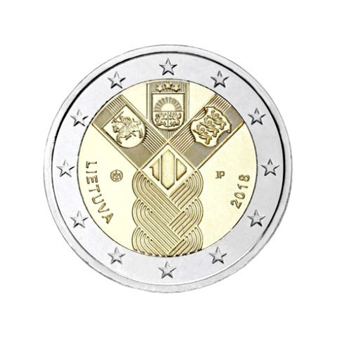 Lituanie 2018 - 2 euro commémorative Etats Baltes