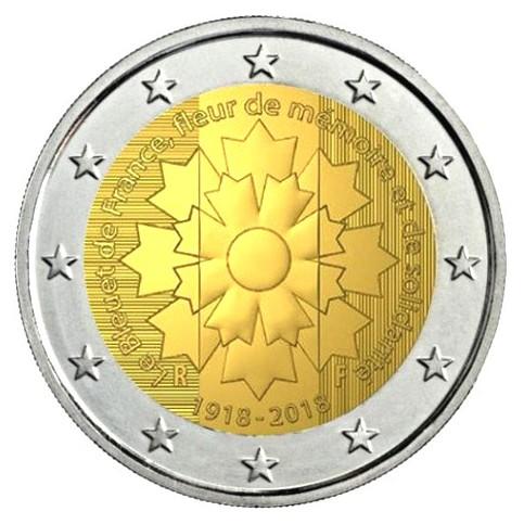 France 2018 - 2 euro commémorative Bleuet