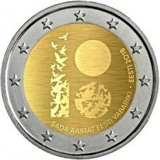 Estonie 2018 - 2 euro commémorative 100 ans