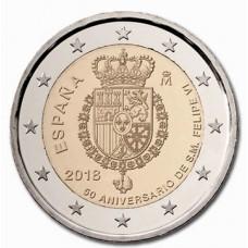 Espagne 2018 - 2 euro commémorative Rois Felipe