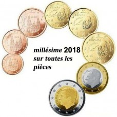 Espagne 2018 - série complète euro neuve