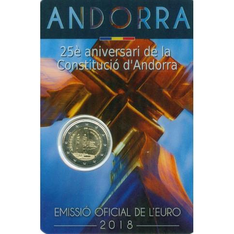 Andorre 2018 - 2 euro commémorative Constitution