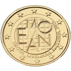 Slovénie 2015 - 2 euro commémorative EMONA dorée à l'or fin 24 carats