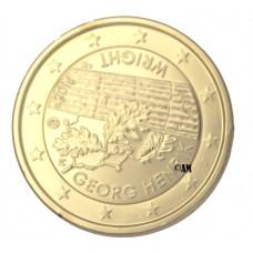 Finlande 2016 - 2 euro commémorative Georg Henrik Wright dorée or fin 24 carats