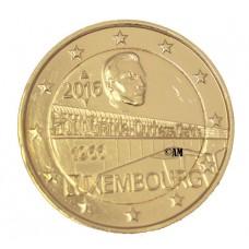 Luxembourg 2016 - 2 euro commémorative dorée à l'or fin 24 carats Pont