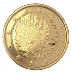 Finlande 2016 - 2 euro commémorative dorée à l'or fin 24 carats Leino
