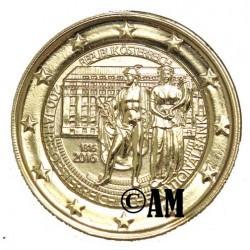 Autriche 2016 - 2 euro commémorative banque nationale dorée à l'or fin 24 carats