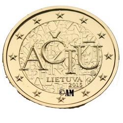 Lituanie 2015 - 2 euro commémorative ACIU dorée à l'or fin 24 carats