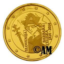 Slovénie 2014 - 2 euro commémorative dorée or fin 24 carats