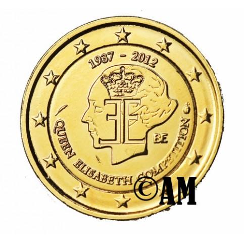 Belgique 2012 - 2 euro commémorative dorée à l'or fin 24 carats