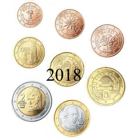 Autriche 2004 :  Série complète euro neuve