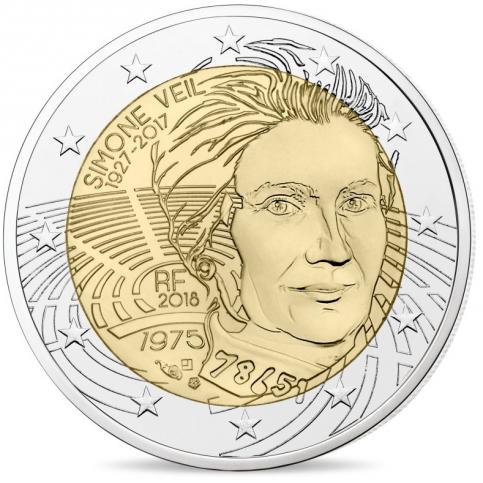France 2018 - 2 euro commémorative Simone Veil