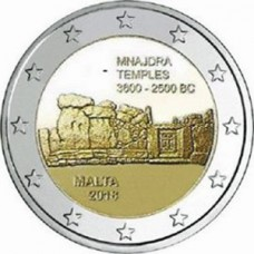 Malte 2018 - 2 euro commémorative Temple de Mnajdra