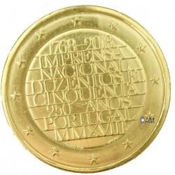 Portugal 2018 - 2 euro commémorative Imprimerie dorée à l'or fin 24 carats