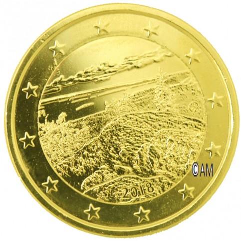 Finlande 2018 - 2 euro commémorative Koli dorée à l'or fin 24 carats