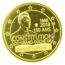Luxembourg 2018 - 2 euro commémorative Constitution dorée à l'or fin 24 carats