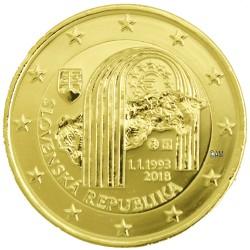 Slovaquie 2018 - 2 euro commémorative République dorée à l'or fin 24 carats