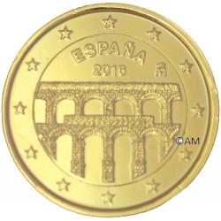 Espagne 2016 - 2 euro commémorative dorée à l'or fin 24 carats  SEGOVIA