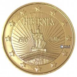 Irlande 2016 - 2 euro commémorative Hibernia dorée à l'or fin 24 carats
