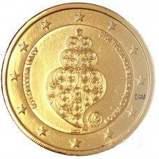 Portugal 2016 -  2 euro commémorative JO dorée à l'or fin 24 carats
