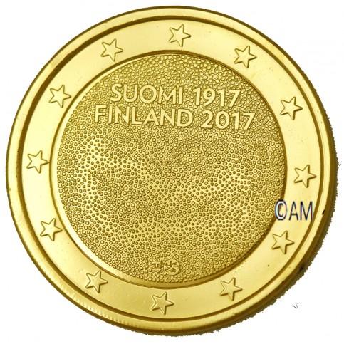 Finlande 2017 - 2 euro commémorative Indépendance dorée à l'or fin 24 carats