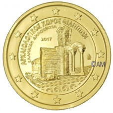 Grèce 2017 - 2 euro commémorative Philippi dorée à l'or fin 24 carats