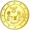 Malte 2017 - 2 euro commémorative La Paix dorée à l'or fin 24 carats
