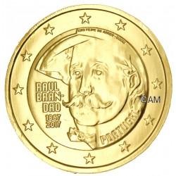 Portugal 2017 - 2 euro commémorative Brandao dorée à l'or fin 24 carats