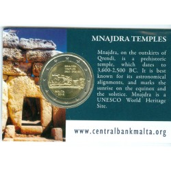 Malte 2018 - 2 euro commémorative Coincard Mnajdra