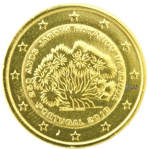 Portugal 2018 - 2 euro commémorative Jardin dorée à l'or fin 24 carats
