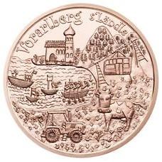 Autriche 2013 - 10 euro cuivre Vorarlberg
