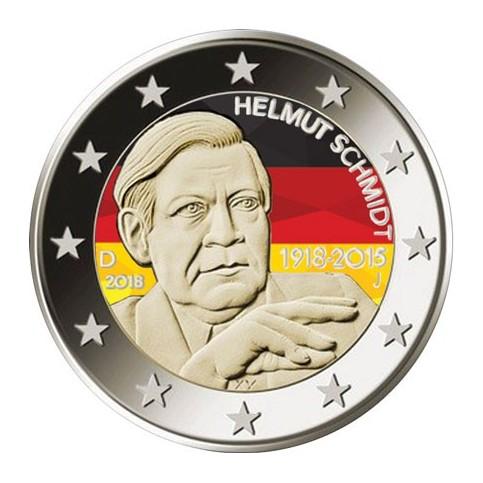 Allemagne 2018 Helmut - 2 euro commémorative en couleur