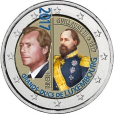 Luxembourg 2017 Guillaume III - 2 euro commémorative en couleur