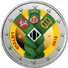 Lituanie 2018 Etats Baltes - 2 euro commémorative en couleur