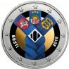 Estonie 2018 Etats Baltes - 2 euro commémorative en couleur