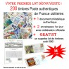 200 timbres authentiques de France